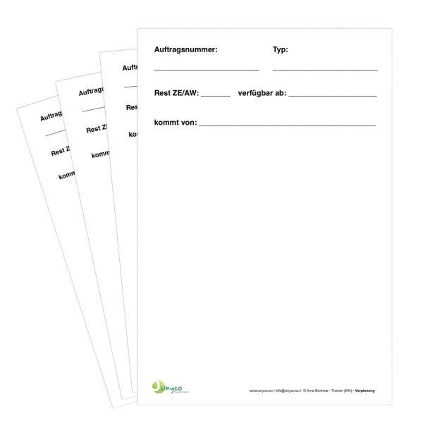 """""""Vorplanung"""" Spezialkarte für die Werkstattdisposition"""